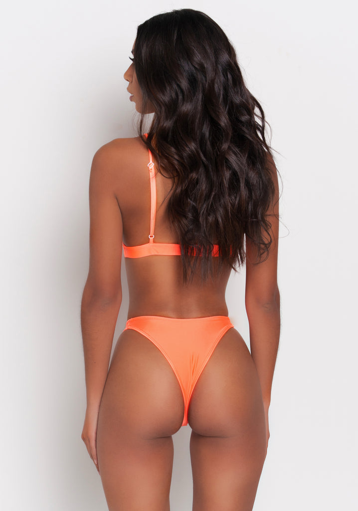 Neon Orange Lia Bikini Bottom