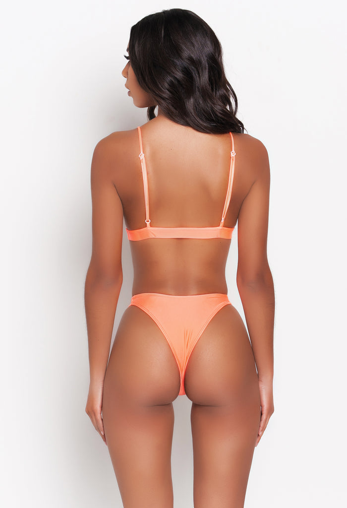Neon Orange Lia Bikini Top