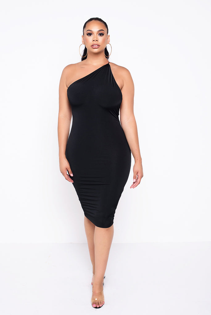 Black Cabo- Cold Shoulder Body-Con Dress
