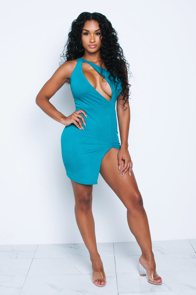 Vixen Jade Asymmetrical Cutout Dress