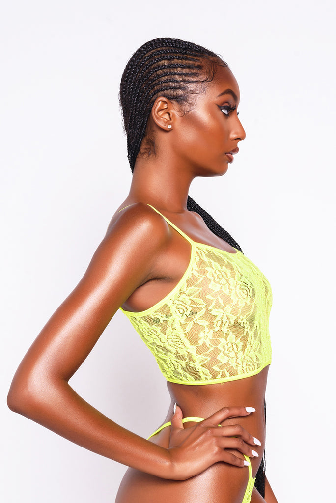 Neon Lacey Cami Top
