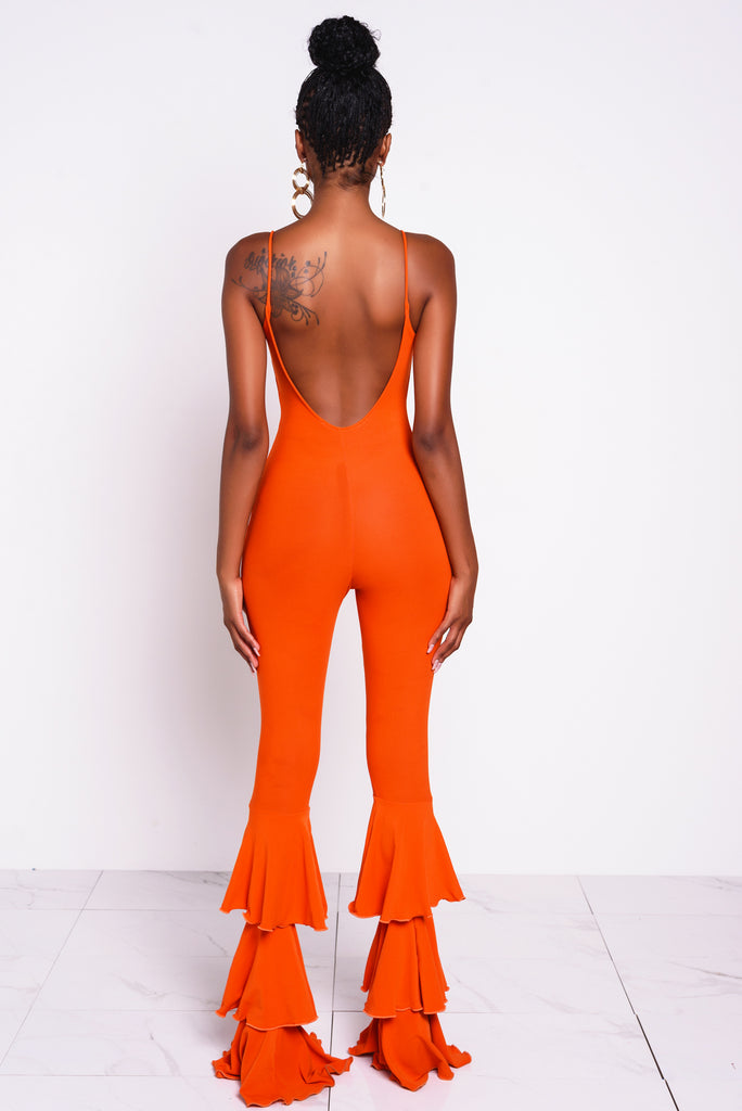Tangerine Havana Nights Jumpsuit
