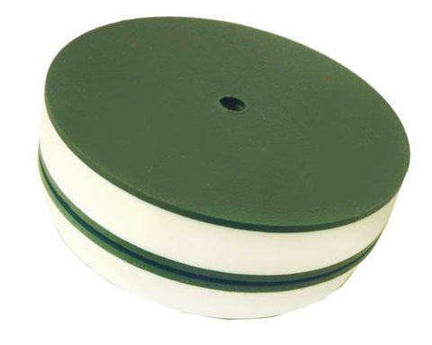 "4.25"" Green Plastic Hole Cup Cover without grass"