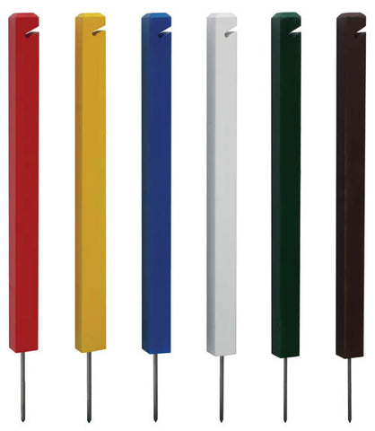"24"" Recycled Plastic Slot Spiked Post"