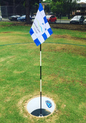 Footgolf - Full set of 9 cups, pins and flags.