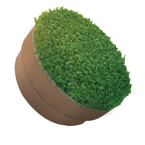 "4.25"" Brown Solid Hole Cup Cover with artificial grass"