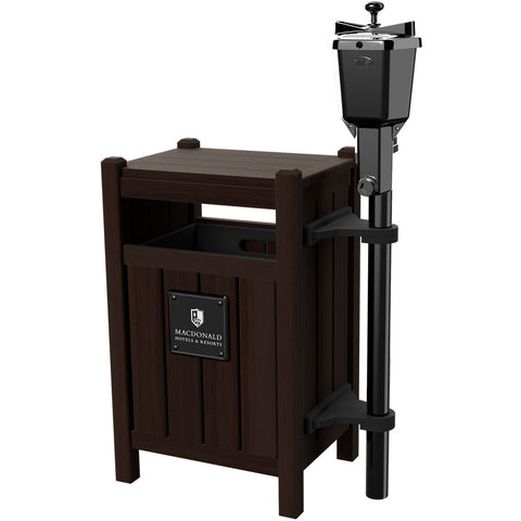 Square Litter Bin Tee Station