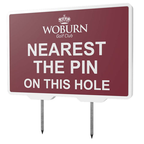 Nearest the Pin Tee Sign