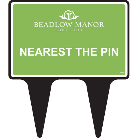 "Nearest the Pin 12x8"" Sign"