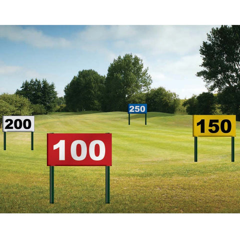 Driving Range Distance Signs