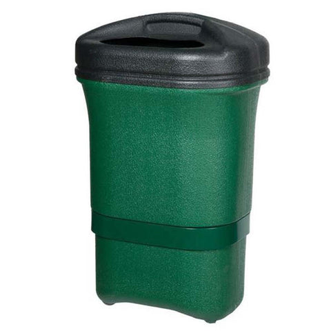 Green Plastic Litter Bin with Lid