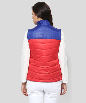 Yepme Carice Sleeveless Jacket - Red & Blue