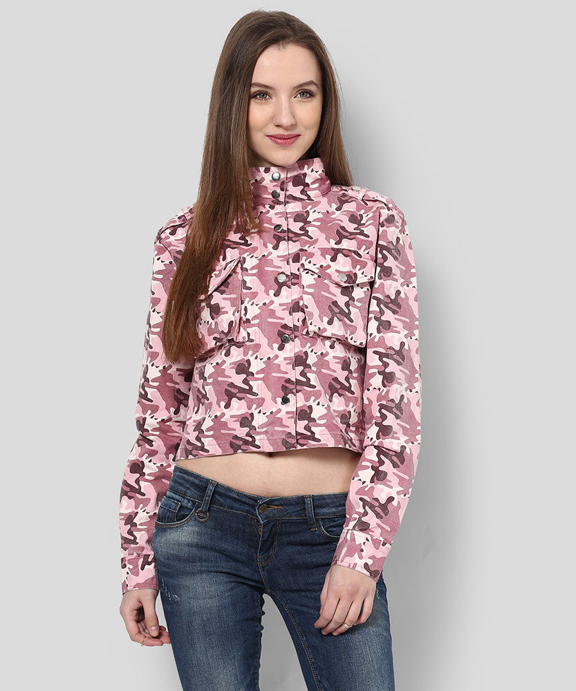 Yepme Derby Printed Jacket - Pink