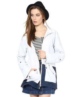 Yepme Jullian Long Jacket - White