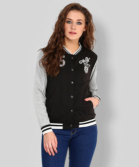 Yepme Elena Full Sleeves Jacket - Black & Grey