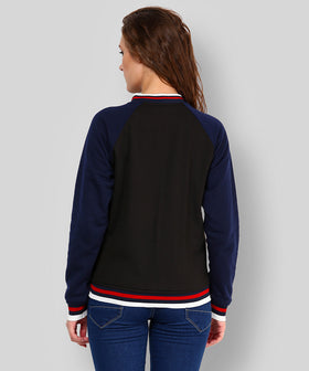 Yepme Cindy Full Sleeves Jacket - Black & Blue