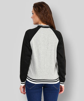 Yepme Cindy Full Sleeves Jacket - Grey & Black