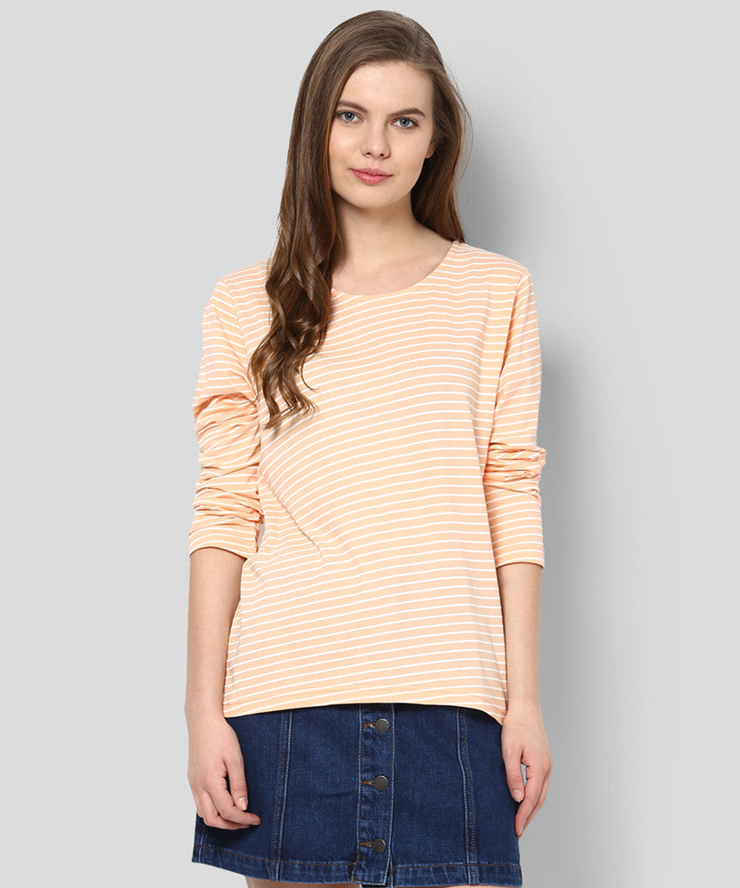 Yepme Rosa Stripes Top  - Coral