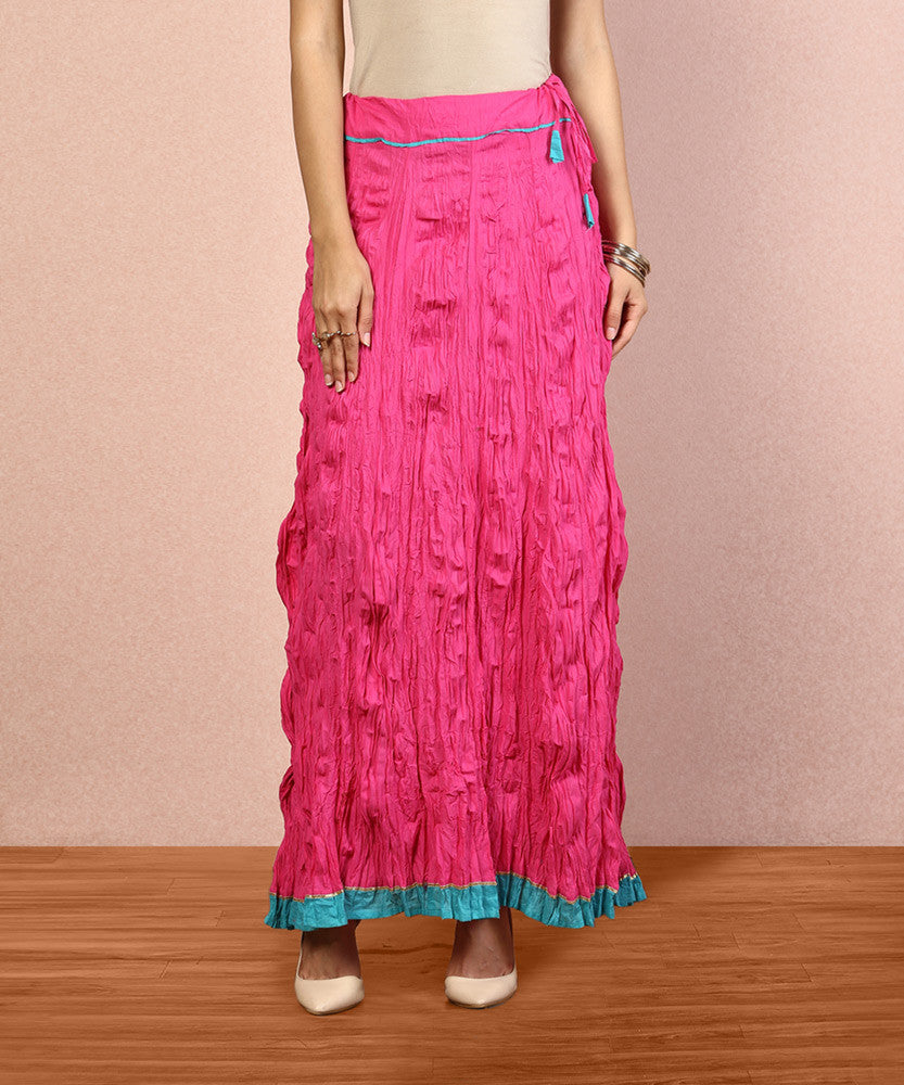 Yepme Rachel Long Skirt - Fuschia