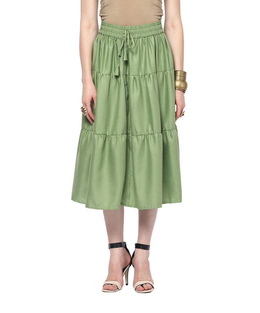 Yepme Emma Midi Skirt - Green