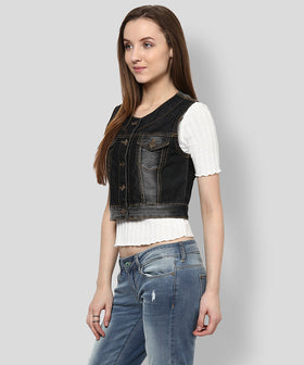 Yepme Serein Sleeveless Denim Jacket - Medium Wash