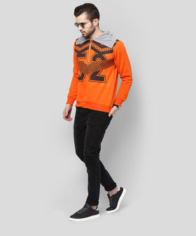 Yepme Hooded Sweatshirt - Orange