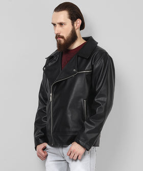 Yepme Fern PU Leather Jacket - Black
