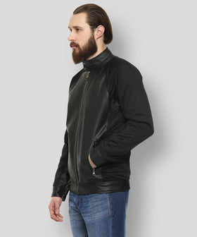 Yepme Mikael PU Leather Jacket - Black