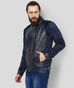 Yepme Mikael PU Leather Jacket - Blue