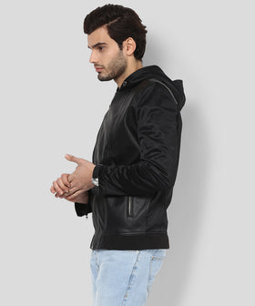 Yepme Robert PU Leather Jacket - Black