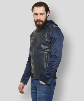 Yepme Robert PU Leather Jacket - Blue