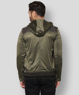 Yepme Robert PU Leather Jacket - Green