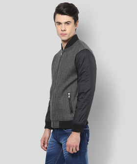 Yepme Stan Full Sleeves Jacket - Grey & Black