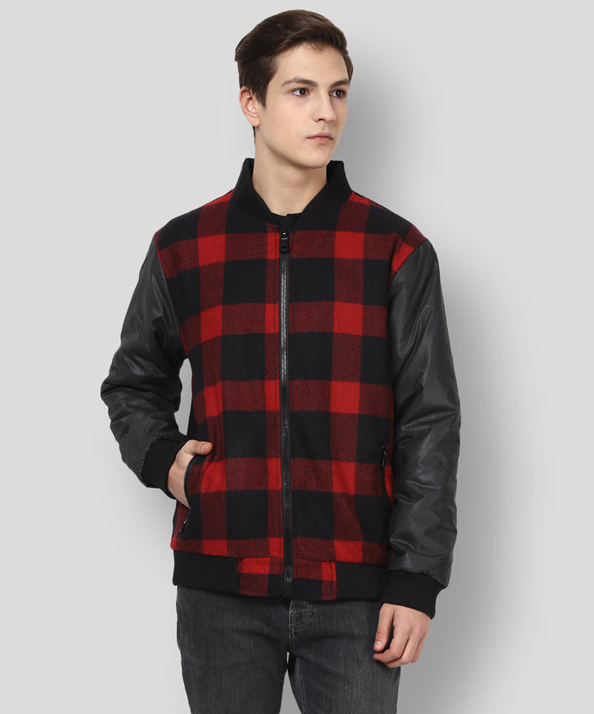Yepme Stan Jacket - Red & Black