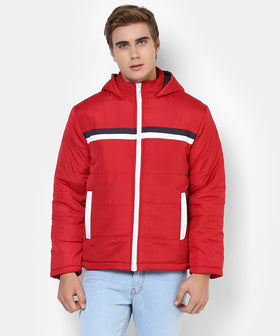 Yepme Ronnie Full Sleeves Jacket - Red & Blue
