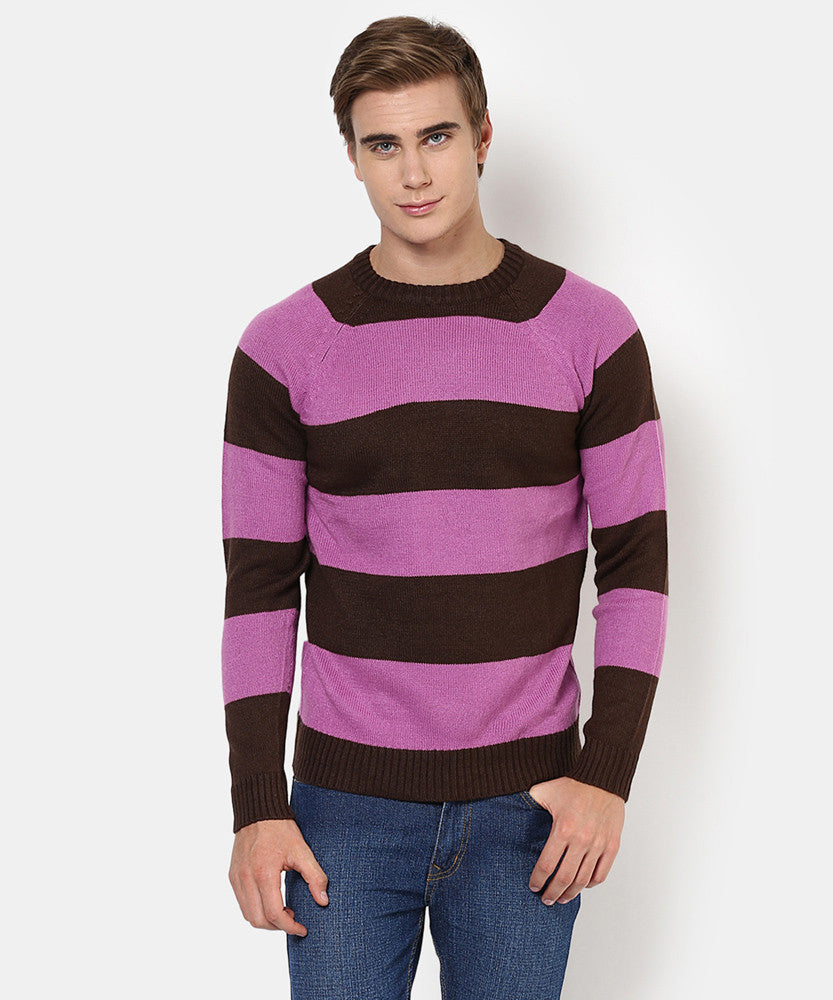 Yepme Austin Sweater - Purple & Black