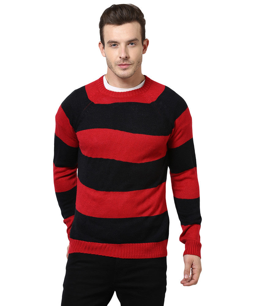 Yepme Austin Sweater - Red & Black
