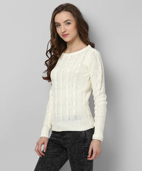 Yepme Zoey Sweater - Off-White