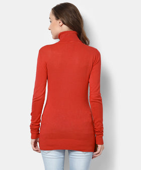 Yepme Lexi Turtle Neck Sweater-lava Red