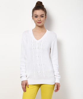 Yepme Karrie Sweater - White
