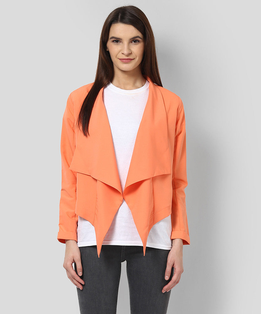 Yepme Alyssa Draped Shrug - Coral