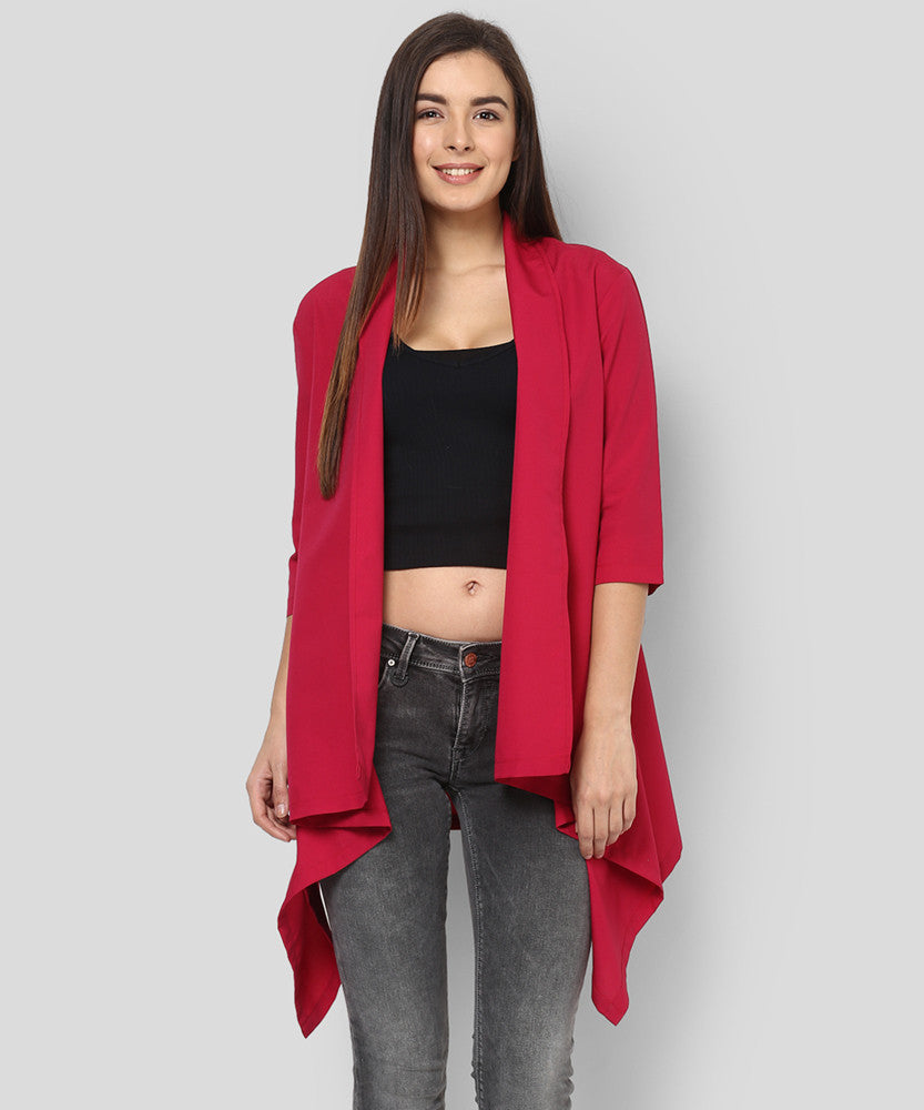 Yepme Avril Draped Shrug - Maroon