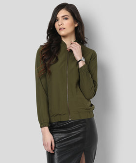 Yepme Katey Full Sleeves Jacket - Green