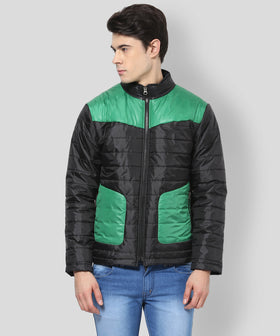 Yepme Erik Full Sleeves Jacket - Black & Green