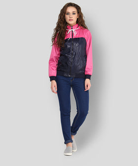 Yepme Klara Full Sleeves Jacket - Blue & Pink