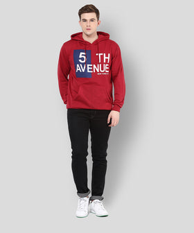 Yepme Jeremy Hooded Sweatshirt - Red