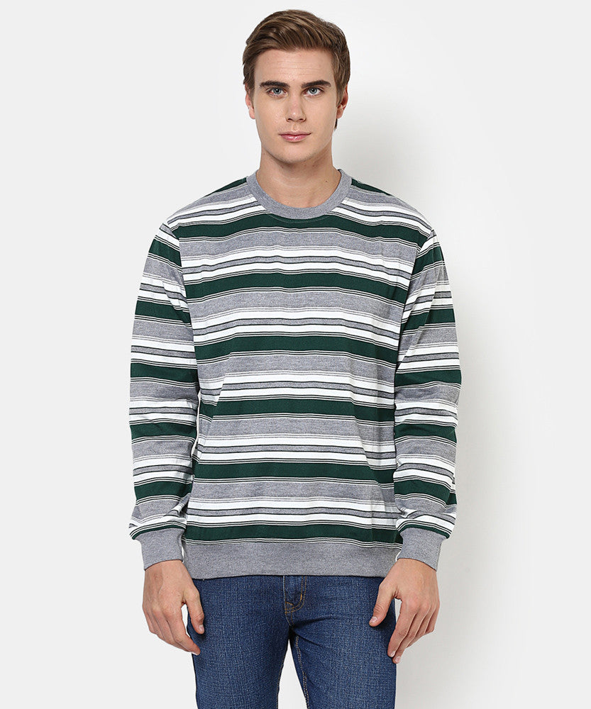 Yepme Simon Sweatshirt - Green & Grey