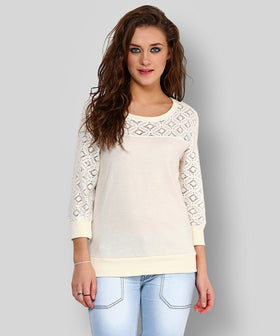 Yepme Norah Lace Sweatshirt - Off-White