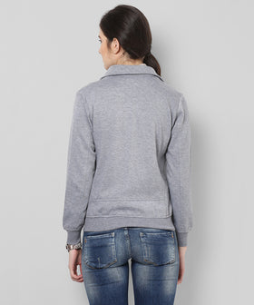 Yepme Stephy Biker Sweatshirt - Grey