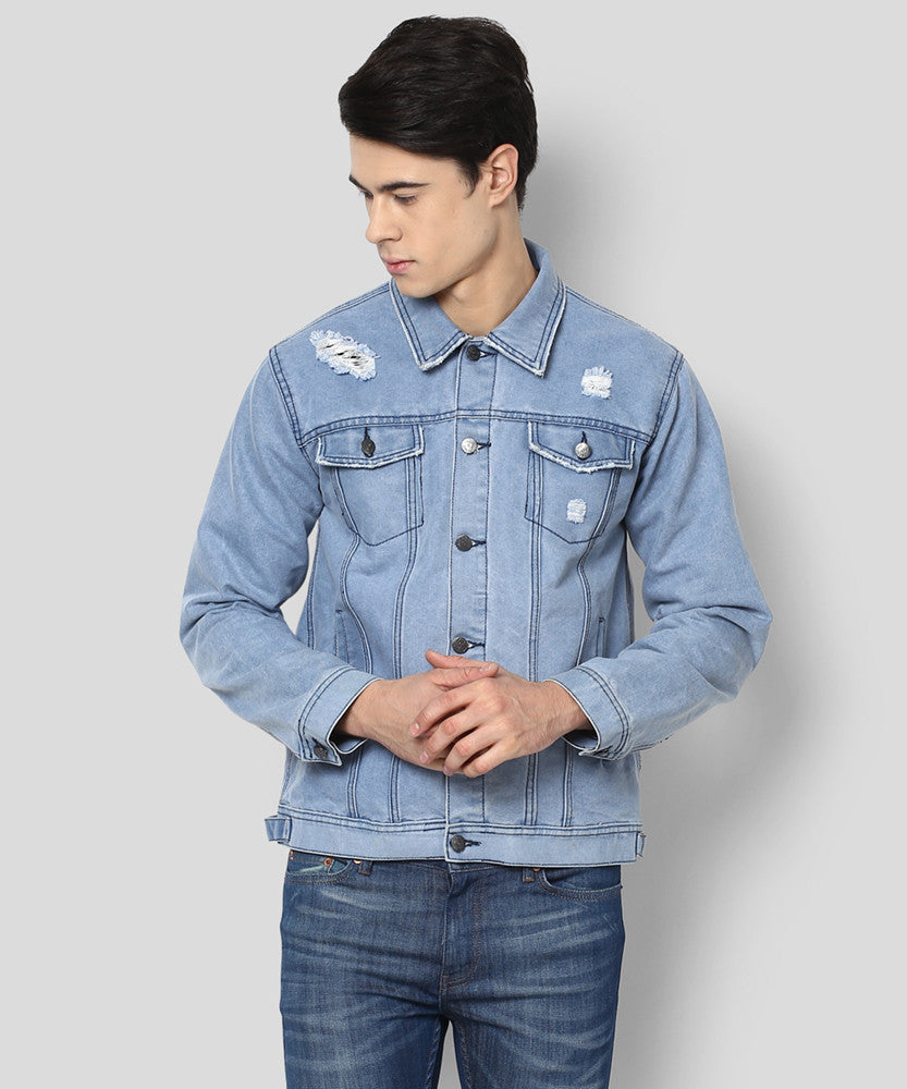 Yepme Macky Full Sleeves Denim Jacket - Light Wash